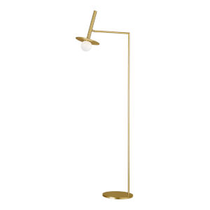 Nodes Burnished Brass LED Floor Lamp