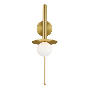 Nodes Burnished Brass 6-Inch One-Light Wall Sconce