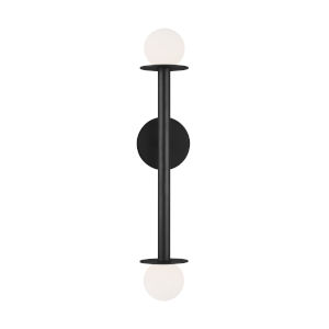 Nodes Midnight Black Two-Light Wall Sconce