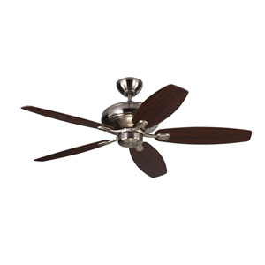 Centro Max Brushed Steel 52-Inch Ceiling Fan