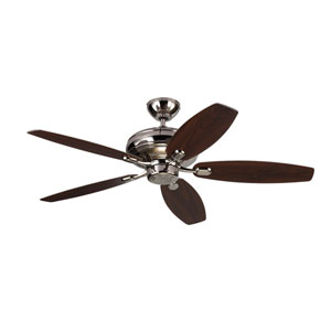 Centro Max Polished Nickel 52-Inch Ceiling Fan