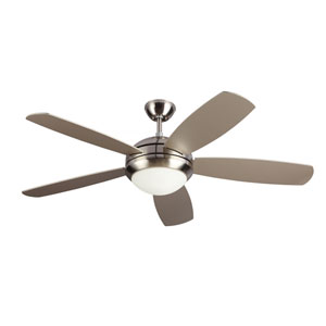 Discus ES Brushed Steel 52-Inch Fluorescent Ceiling Fan