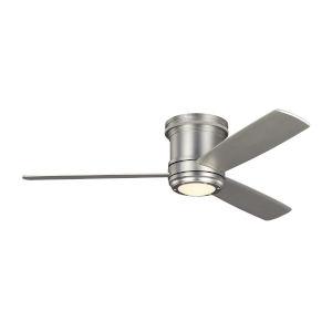 Aerotour Semi-Flush Satin Nickel 56-Inch LED Hugger Ceiling Fan