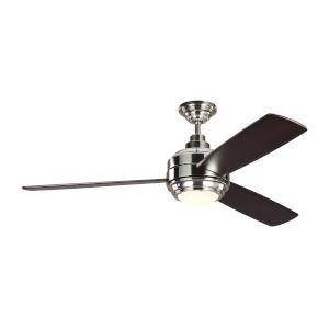 Aerotour Polished Nickel with Dark Mahogany Blades 56-Inch LED Ceiling Fan