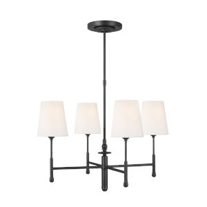 Capri Aged Iron 26-Inch Four-Light Chandelier