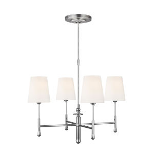 Capri Polished Nickel 26-Inch Four-Light Chandelier