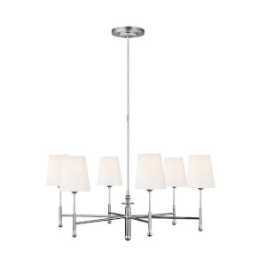 Capri Polished Nickel 34-Inch Six-Light Chandelier