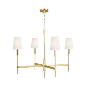 Beckham Classic Burnished Brass 36-Inch Four-Light Chandelier