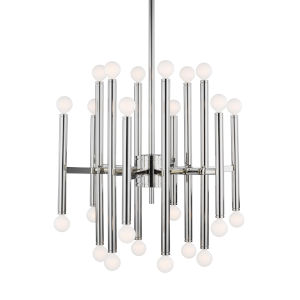 Beckham Modern Polished Nickel 23-Inch 24-Light Chandelier