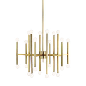 Beckham Modern Burnished Brass 29-Inch 24-Light Chandelier
