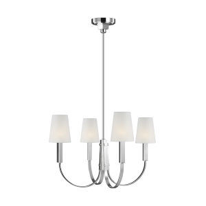 Logan Polished Nickel 26-Inch Four-Light Chandelier