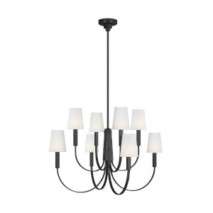 Logan Aged Iron 37-Inch Eight-Light Chandelier