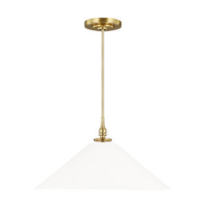 Capri Burnished Brass 24-Inch One-Light Pendant