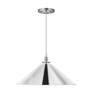 Capri Polished Nickel 24-Inch One-Light Pendant