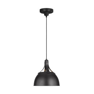 Logan Aged Iron 12-Inch One-Light Pendant