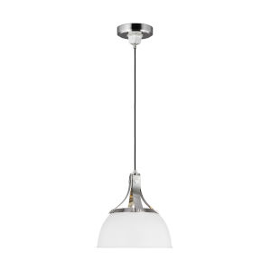 Logan Polished Nickel 12-Inch One-Light Pendant