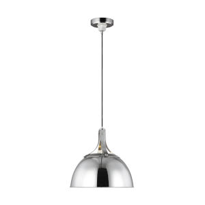 Logan Polished Nickel 16-Inch One-Light Pendant