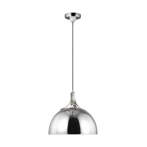 Logan Polished Nickel 18-Inch One-Light Pendant