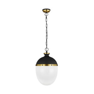 Aubry Midnight Black 13-Inch Two-Light Pendant