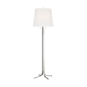 Logan Polished Nickel 68-Inch Two-Light LED Table Lamp