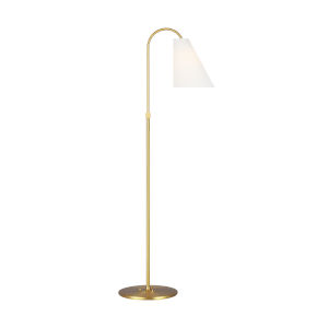 Signoret Burnished Brass and White One-Light Task Floor Lamp