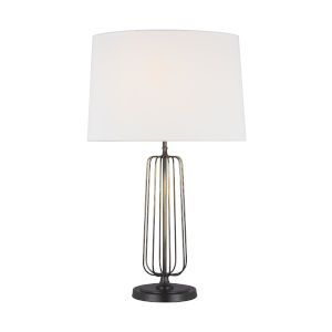 Milo Atelier Brass and White One-Light Table Lamp