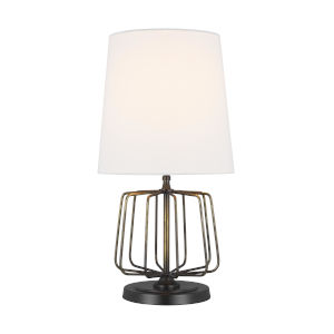 Milo Atelier Brass and White One-Light Mini Table Lamp