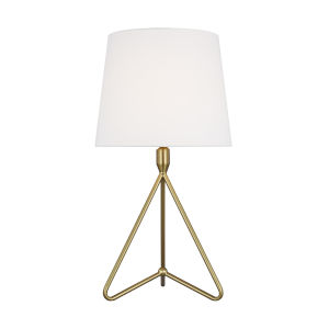 Dylan Burnished Brass and White One-Light Short Table Lamp