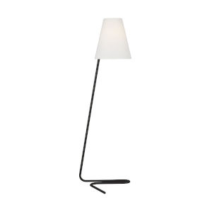 Jaxon Aged Iron and White One-Light Floor Lamp