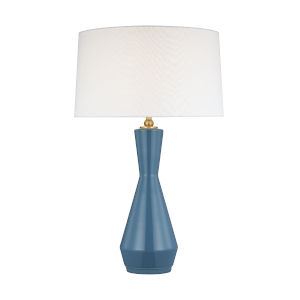 Jens Lucent Aqua and White One-Light Table Lamp