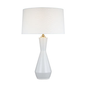 Jens Soft Ivory and White One-Light Table Lamp