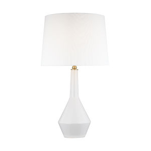 Alana Soft Ivory and White One-Light Table Lamp
