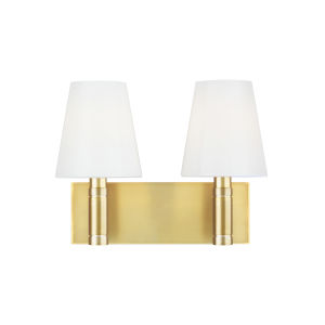 Beckham Classic Burnished Brass 13-Inch Two-Light Bath Vanity