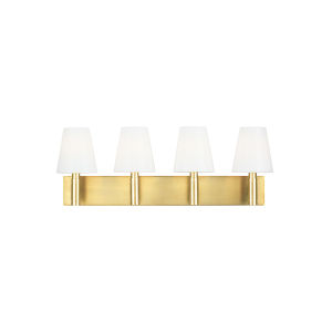 Beckham Classic Burnished Brass 29-Inch Four-Light Bath Vanity