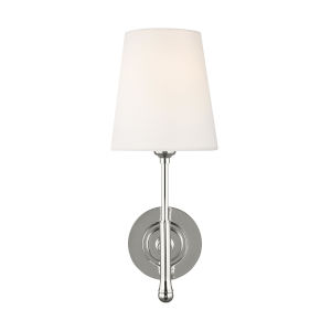 Capri Polished Nickel Six-Inch One-Light Wall Sconce
