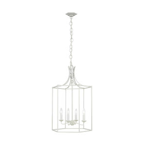 Bantry House Gloss Cream 17-Inch Four-Light Title 24 Pendant