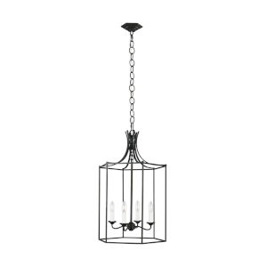 Bantry House Smith Steel 17-Inch Four-Light Title 24 Pendant