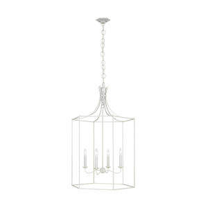 Bantry House Gloss Cream 24-Inch Four-Light Title 24 Pendant