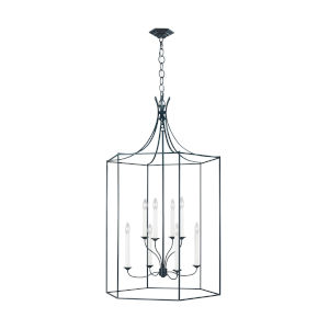 Bantry House Dutch Blue Eight-Light Title 24 Chandelier