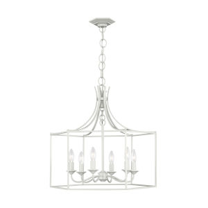 Bantry House Gloss Cream Six-Light Title 24 Chandelier