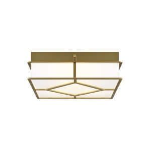 Transom Burnished Brass 13-Inch Three-Light Flush Mount