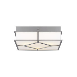 Transom Polished Nickel 13-Inch Three-Light Flush Mount