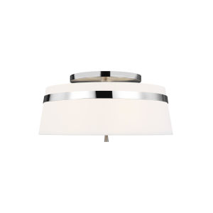 Cordtlandt Polished Nickel 19-Inch Three-Light Title 24 Semi-Flush Mount