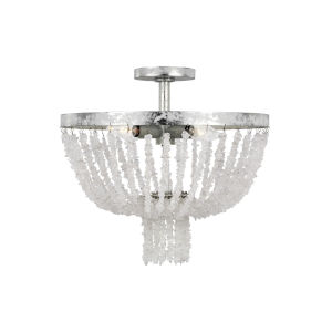 Leon Salt Mist Four-Light Title 24 Flush Mount