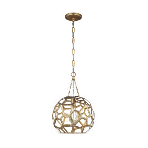 Feccetta Antique Gold 11-Inch One-Light Pendant