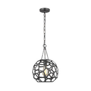 Feccetta Midnight Black 11-Inch One-Light Pendant
