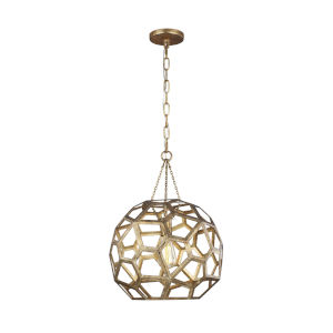 Feccetta Antique Gold 15-Inch One-Light Pendant