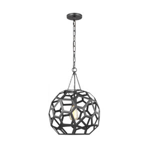 Feccetta Midnight Black 15-Inch One-Light Pendant
