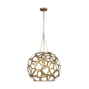 Feccetta Antique Gold 21-Inch One-Light Pendant