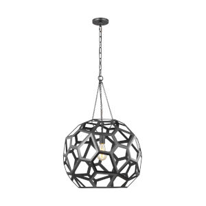 Feccetta Midnight Black 21-Inch One-Light Pendant